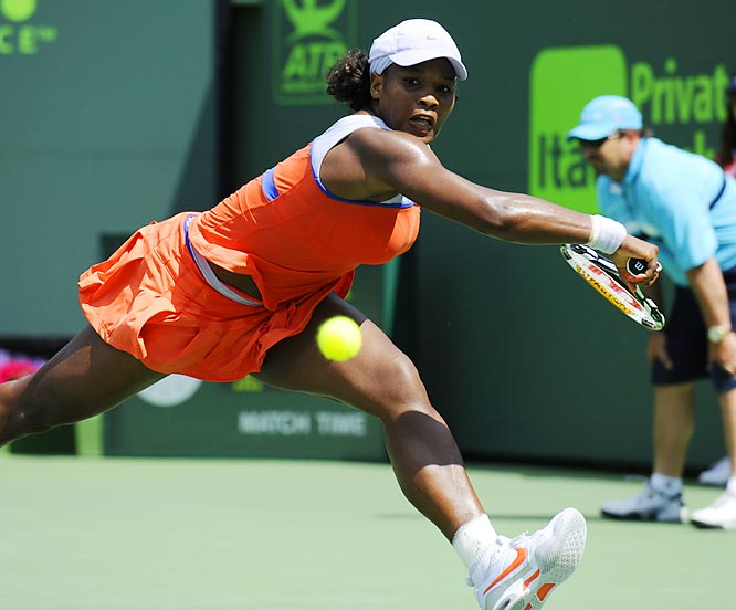 Serena Williams continues to serve notice that she will not relinquish the top ranking soon.