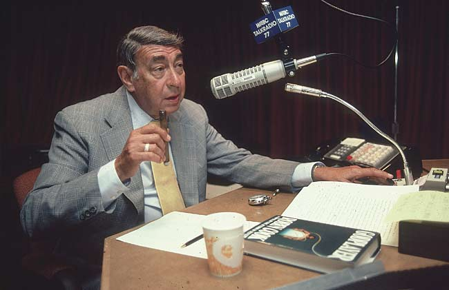 "Howard Cosell hosts the season-ending episode of ""Saturday Night Live."""