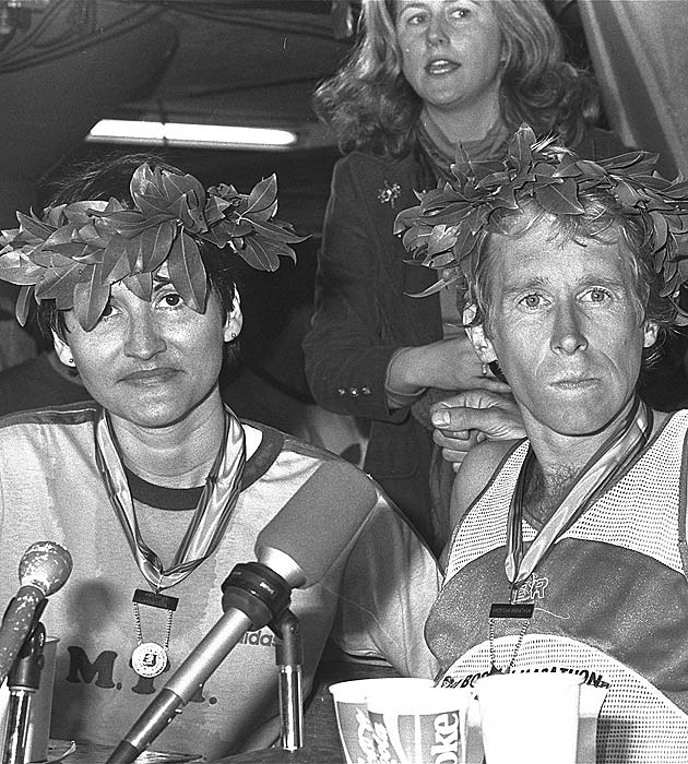Rosie Ruiz was crowned the winner of the Boston Marathon -- she was later disqualified when it was discovered she rode the subway instead of running much of the race.