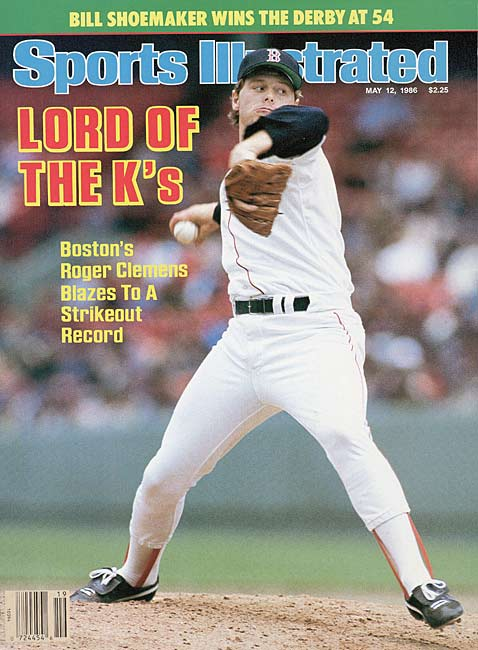 Roger Clemens breaks the major league record by striking out 20 batters as the Red Sox defeat the Mariners, 3-1.