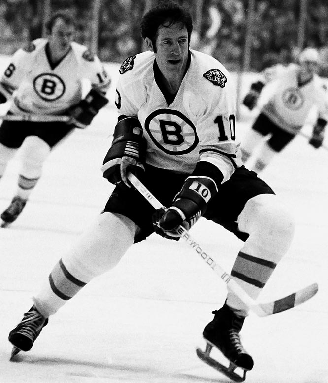In a 7-4 victory over Toronto, Boston's Jean Ratelle scores his 1,000th NHL point.
