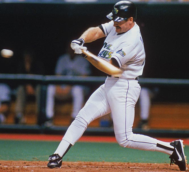 The Devil Rays retire the No. 12 uniform in honor of Wade Boggs. Although the former Red Sox and Yankee third baseman only spent two years with Tampa Bay, he hit the franchise's first home run and became the 23rd member of the 3,000-hit club as a member of the team.