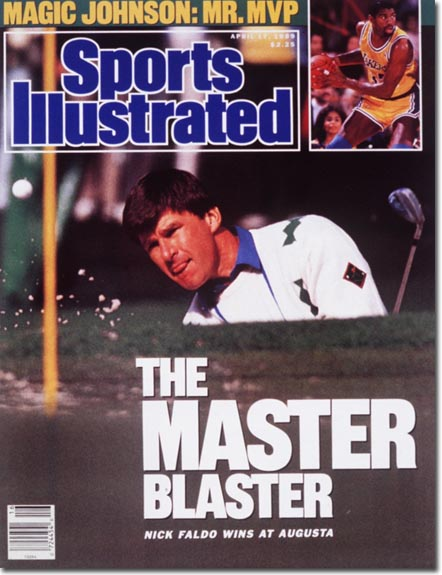 At the 54th Golf Masters Championship: Nick Faldo shoots a 278 to capture his second consecutive Green Jacket.