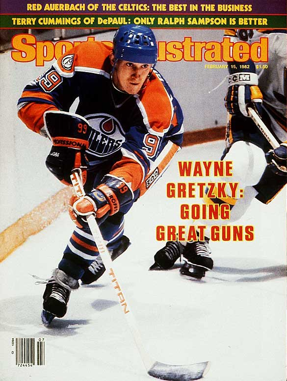 In a 13-3 victory over the Kings, Wayne Gretzky scores seven goals to pass Jean Beliveau as all-time playoff scoring leader.