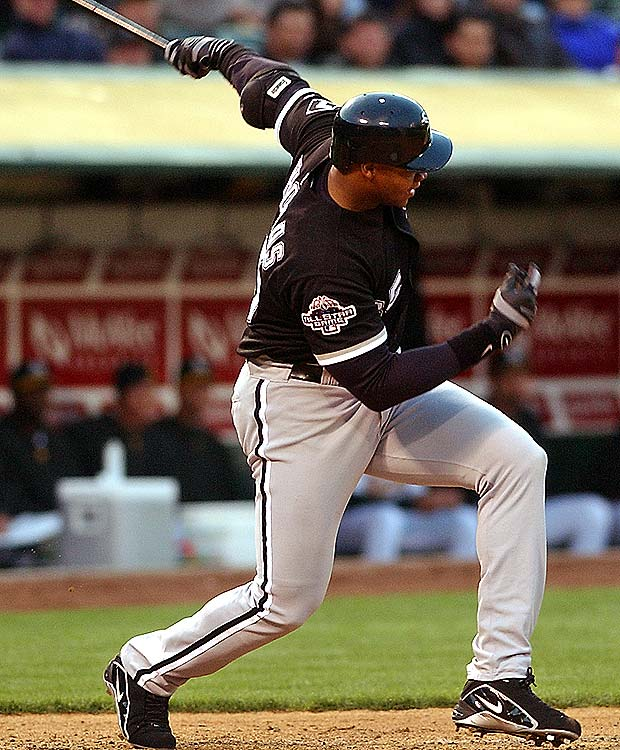In the first night game in the new Comiskey Park (now U.S. Cellular Field), Frank Thomas hits the first White Sox home run.  The Sox defeated the Orioles, 8-7.