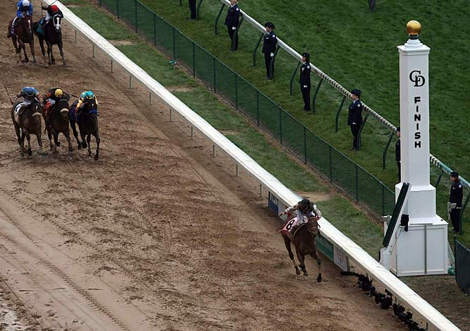 Calvin Borel was in a familiar place, along the rail and urging Mine That Bird to fly through the mud. Together they pulled off one of the greatest upsets in 135 years of America's most famous horse race.