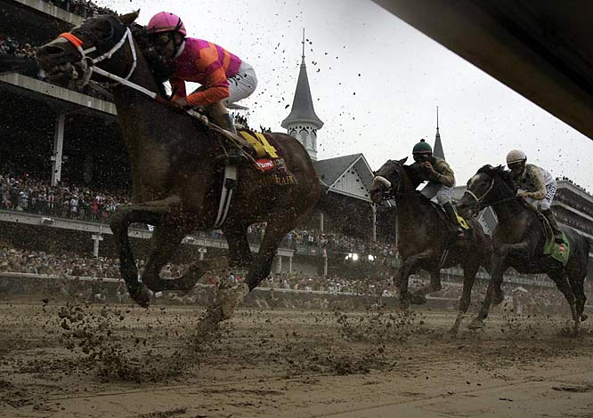 Atomic Rain didn't enjoy the same result of another 50-1 long shot (Mine That Bird). The colt finished the Derby in 16th place.