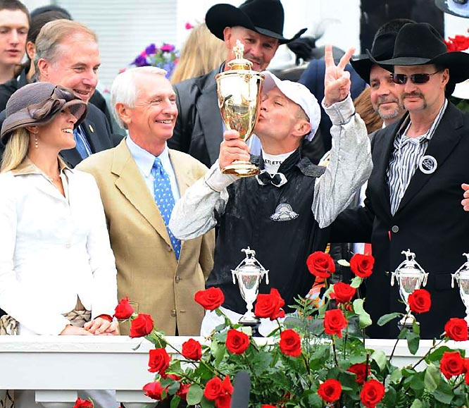 Jockey Calvin Borel, 42, has captured the Derby crown two times in three years (2007 -- Street Sense).
