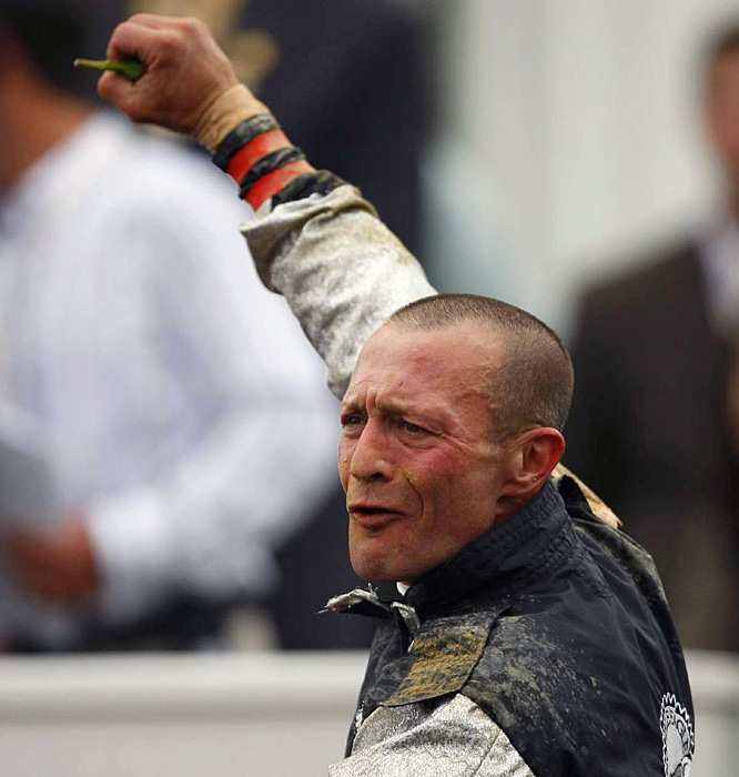 Jockey Calvin Borel can now look forward to The Preakness, the second leg of racing's hallowed Triple Crown.