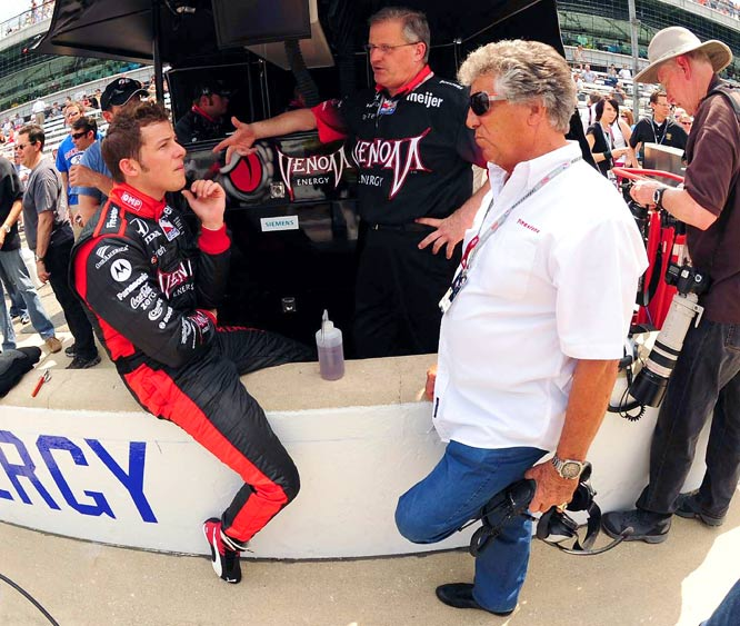 Marco Andretti spent some time with grandfather and racing legend Mario before the race, but it was a disappointing day for the 22-year-old. An early wreck forced him to the pits for several laps. He completed just 56 of 200 laps and finished 30th.