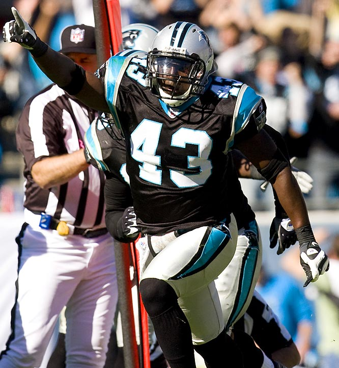 The strong safety had 70 tackles in '08, despite playing at least the latter portion of the season with a torn labrum in his shoulder. Harris underwent surgery in January, and should require three to four months of rehab, but he should be ready to go in time for training camp. Carolina's counting on that.