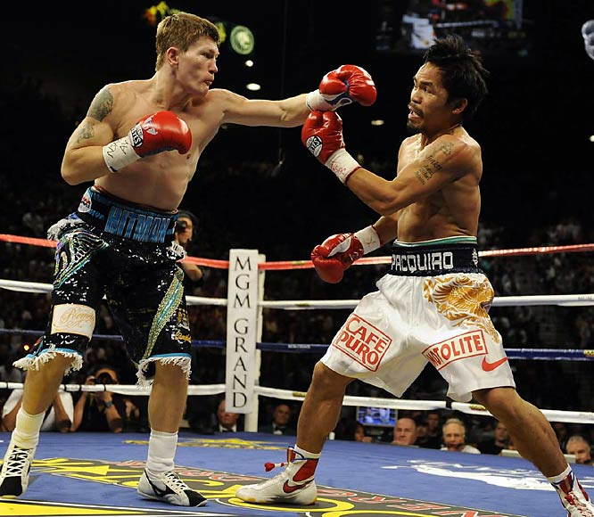 Pacquiao came into the bout on the heels of his rousing victory over Oscar De La Hoya five months ago.