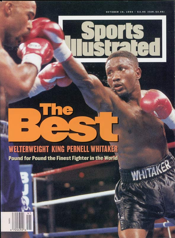 """Sweet Pea's"" 40-4-1 record, with 17 KOs, only portray a fraction of his power in the ring. Whitaker claimed Olympic gold as lightweight at the 1984 Games, won 201 of his 214 amateur bouts (though he claims he fought and won many more) and became world champion in four weight divisions -- lightweight, super lightweight, welterweight and light middleweight."