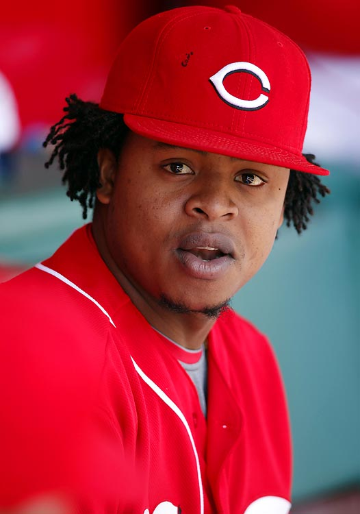 Edinson Volquez of the Cincinnati Reds failed a test for performance-enhancing drugs and was given a 50-game suspension by Major League Baseball on April 20, 2010. Volquez, an NL All-Star in 2008, was on the disabled list at the time recovering from reconstructive elbow surgery the previous summer.