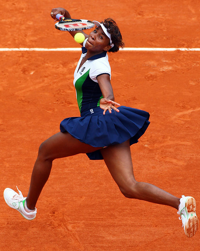 Up to No. 3 in the rankings for the first time in six years, Venus is hoping to break through for her first title at Roland Garros. Her best previous result came in 2002, when she lost to her younger sister in the final.