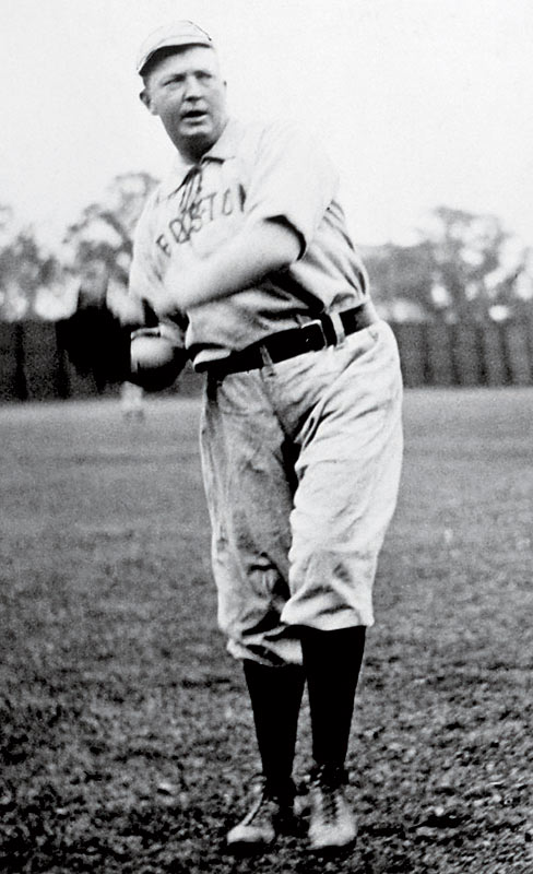 Denton True Young, baseball's biggest winner -- and loser -- logged a record 7,356 innings during his 22-year career. Among his 511 wins were 76 shutouts and three no-hitters. Nicknamed ''Cy'' because of his cyclone-like fastball, Young won 20 games 16 times (five 30-win seasons). He averaged 27 wins and a 3.05 ERA in the 1890s; 27 wins and a 2.12 ERA in the 1900s.<br><br>Not pictured:<br><br>- Kid Nichols | No. 300: July, 7, 1900 | Career: 360-205<br><br>- John Clarkson | No. 300: Sept. 21, 1892 | Career: 329-177<br><br>- Charley Radbourn | No. 300: June 2, 1891 | Career: 310-196<br><br>- Mickey Welch | No. 300: July 28, 1890 | Career: 309-212<br><br>- Tim Keefe | No. 300: June 4, 1890 | Career: 341-223<br><br>- Pud Galvin | No. 300: Oct. 5, 1888 | Career: 361-302