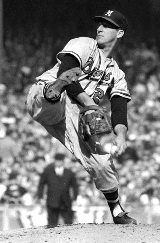 Despite three years in the military during his early 20s, Warren Edward Spahn won more games than any other left-hander in major league history. A 13-time 20-game winner, Spahn completed more than half his starts (382 of 665) and recorded 68 shutouts. He still holds the NL record for innings pitched over his 21-year career, during which he hurled two no-hitters.