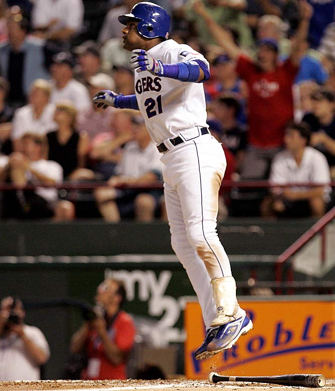 As a member of the Texas Rangers, Sosa became the fifth player ever to hit 600 homers. And he did it against the Cubs, the team for which he blasted 545 of his career homers. No. 600 came off Jason Marquis.