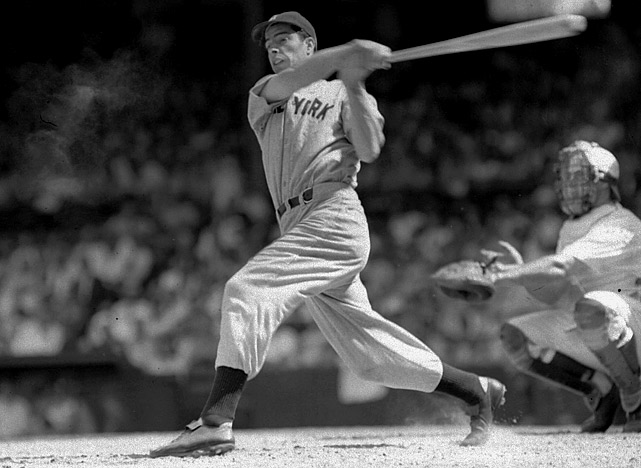 Joe DiMaggio's legendary 56-game hit streak lasted from May 15 to July 16 in 1941 -- a hit every game for over two months. During the streak, the Yankee Clipper tallied 91 hits, 22 multi-hit games, five three-hit games, four four-hit games, a. 408 batting average, 15 home runs and 55 RBI's.