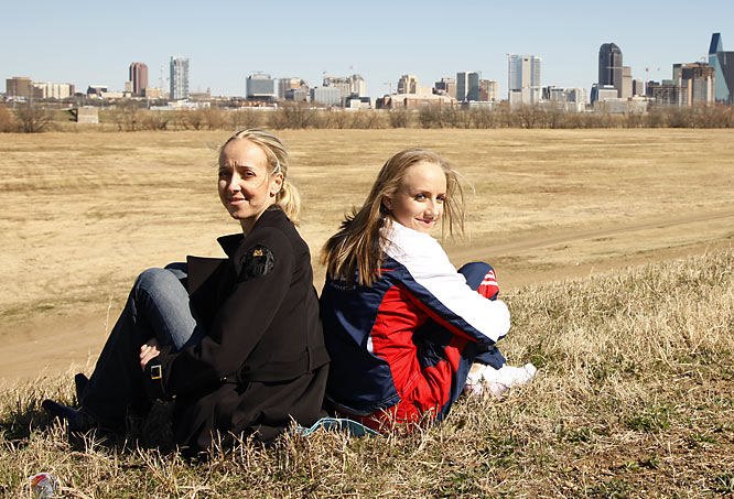 Olympic gymnast Nastia Liukin and her mother, Anna Kotchneva, the 1987 World Champion in rhythmic gymnastics.