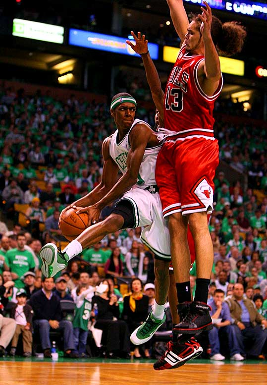 Paul Pierce and Ray Allen had some electrifying games, and Glen Davis and Kendrick Perkins were solid up front, but Rondo was the Celtics' standout during their title defense. The third-year point guard averaged 16.9 points, 9.7 rebounds and 9.8 assists in 14 games.