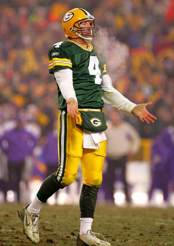 "After a bitter playoff loss to Minnesota, Favre tells the Packers he needs time to consider his future. ""It would be easy to walk off the field after that game and say, 'I've had enough,""' Favre said. ""But I'm going to try to be as fair to myself and to this team as possible. I've had a lot of great games. This obviously was not one of them. But I can't base my decision on this game ... It's not about me anymore. My wife has gone through some difficult times and continues to. So that is going to play into my decision-making."""