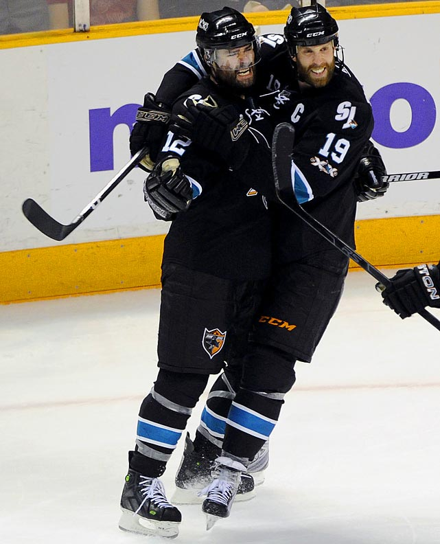 For all the blame Patrick Marleau has shouldered for San Jose's postseason failures, it was only fitting that his winning goal helped the Sharks avoid one of their biggest collapses. Marleau got his first point of the series when he knocked home a rebound with 7:47 to play and then made the key defensive play in the closing seconds of an amazing Game 7 -- the sixth one-goal outcome in their series. San Jose advanced to its third conference final in franchise history; but of similar importance avoided becoming the fourth team in NHL history to blow a 3-0 series lead in the playoffs.