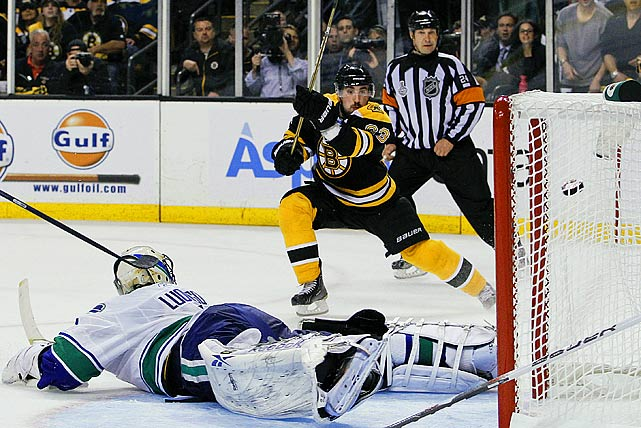 Boston's third-round pick in 2006 established a reputation as a productive agitator during the Bruins' run to the Stanley Cup Final. The 23-year-old rookie, who scored 21 goals and 41 points during the regular season, produced a team record 11 tallies and 19 points in the playoffs, including five in the Cup final vs. Vancouver. He also gained a measure of notoriety by brazenly punching Daniel Sedin of the Canucks in the head four times during Game 6 of the feisty, hotly contested series for the silverware.