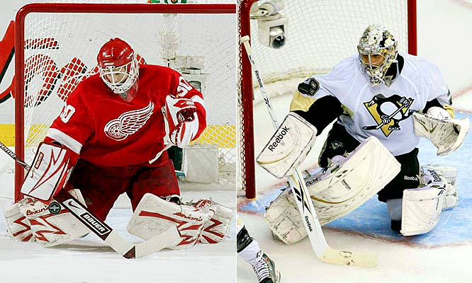 Pittsburgh's Marc-Andre Fleury has been a composed and resilient presence, limiting the damage after soft goals and taking care of his team's rare defensive breakdowns. Detroit's Chris Osgood seems determined to stick it to everyone who criticized him as his team's weak link during the regular season. Osgood's playoff numbers (2.06 GAA, .925 save percentage) are eye-popping, but his experience and game-stealing ability set him apart. <br><br>Edge: Red Wings