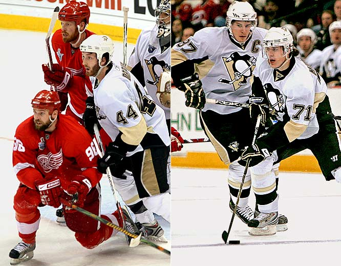 Both teams have dynamic pieces. The one difference? The Red Wings can slap together a pair of elite units centered around Johan Franzen and Tomas Holmstrom, giving them consistent net presence. That's why Detroit is clicking on every fourth chance, while the Penguins (led by Sidney Crosby and Evgeni Malkin with five power play goals each) come in at just under one in five. <br><br>Edge: Red Wings