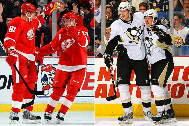 Forget that old saw about defense. In the New NHL, scoring wins championships. The Penguins are led by high-octane superstars Evgeni Malkin and Sidney Crosby (28 points each so far) and boast the most efficient offense in the playoffs. The Red Wings take a four-line, offense-by-committee approach that's allowed them to thrive despite scant output from Pavel Datsyuk and Marian Hossa. <br><br>Edge: Red Wings