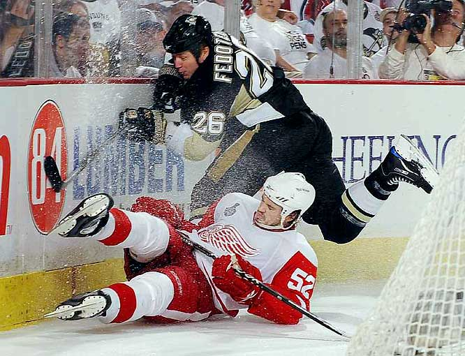 Ruslan Fedotenko and the Penguins, three days after absorbing a 5-0 beating in Game 5, delivered a clutch defensive effort to stifle Detroit in Game 6.