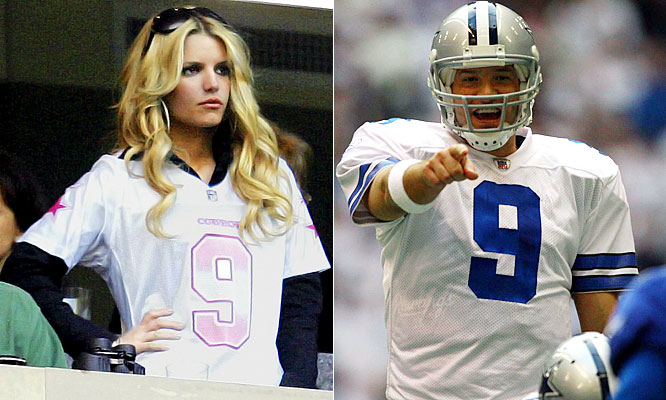 "In a recent interview with <i>Vanity Fair</i>, Simpson opened up about her relationship with Romo. ""I was always a fan,"" she said. ""In Texas, it's a sin not to be. But I've never been as passionate as I am now. Before a game, I'm crazed, sending mass e-mails: 'Please pray for Tony's protection.' ""Now if she can just ask for them to pray that Tony gets a playoff win this season."