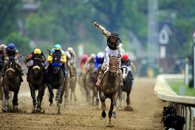 The only sport on the ropes more than boxing these days is horse racing, but Saturday's big race showed why it's still the sport of kings. On a muddy track at Churchill Downs, Mine That Bird, a 50-1 shot, pulled off the second-biggest upset in Kentucky Derby history with a runaway victory that wasn't lost on the masses. The ratings were up 7 percent from last year and the overnight rating was the highest since 1992.