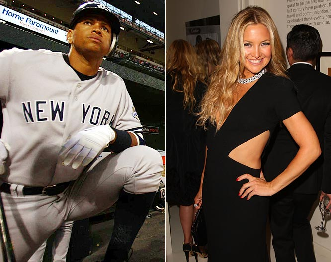 The New York tabloids are abuzz with the news that A-Rod could be dating the actress. They have been spotting making out and dining in a couple of Manhattan establishments, and Hudson was at Friday's game cheering on the Yankees and A-Rod.  There's nothing like hooking up with a Hollywood starlet to soothe the pain of bad press.