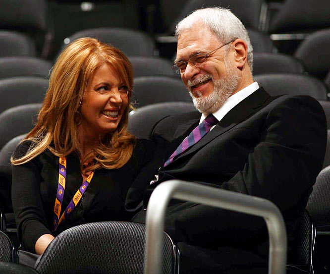 Easily the Internet's best reality show these days is Jeanie Vision on Lakers.com, where Buss, the team's vice president and daughter of owner Jerry Buss, interviews her boyfriend, Lakers coach Jackson, as they drive to the arena before games and in bed after games. No joke.