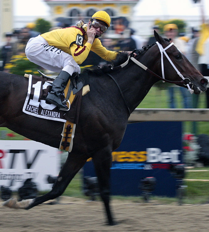 "Upon switching from Mine That Bird before the Preakness, jockey Calvin Borel referred to Rachel Alexandra as a ""once-in-a-lifetime"" racing horse."
