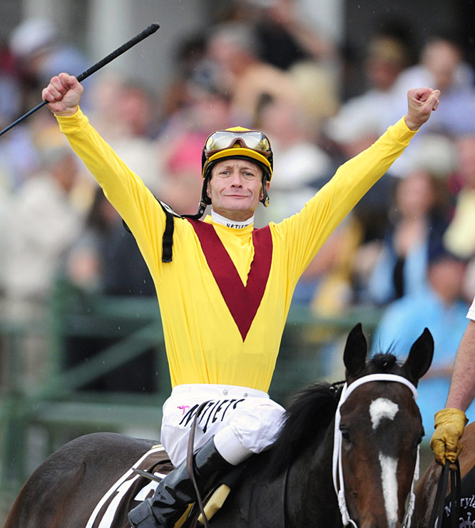 On June 6 at the Belmont Stakes, jockey Calvin Borel could become the first jockey in racing history to win all three Triple Crown races -- but on different horses.