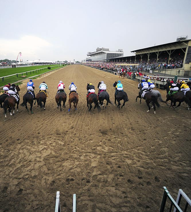 And they're off ... for the running of the 134th Preakness Stakes.