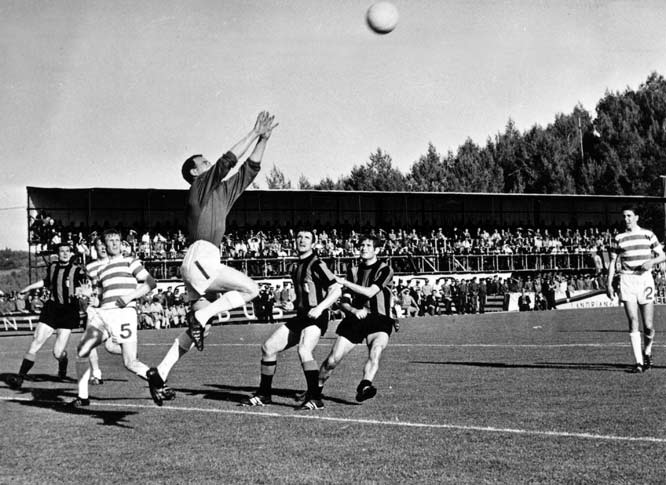 Celtic became the first British winners of the European Cup when Steve Chalmers fired home an 85th-minute winner to break a 1-1 deadlock against a cautious Italian side in Lisbon. It was a deserved victory for the Hoops, who generated an incredible 42 chances on the day.