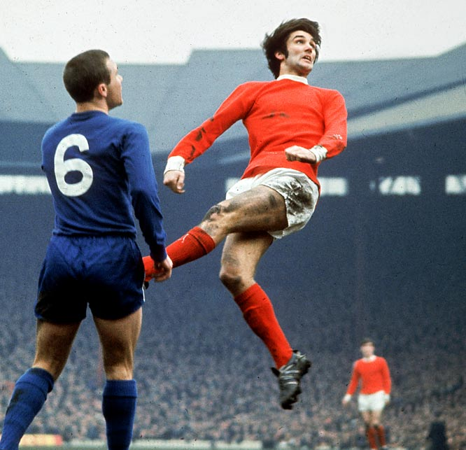 Ten years after the death of eight Manchester United players in the Munich air disaster, the English champions met Portugal's Benfica in an emotional semi-home fixture at Wembley Stadium. Bobby Charlton's opener put United ahead but Jaime Graça's equalizer in the 75th minute sent the match to extra time. That's when the superior fitness of the English club helped United secure a 4-1 victory on goals from George Best (pictured at right, in the 93rd minute), Brian Kidd (94th) and a second from Charlton (99th).