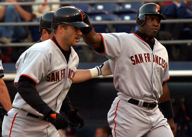 "By the time he came to San Francisco in 1997, Jeff Kent had already developed a reputation as a clubhouse recluse. Things only worsened when he encountered his equal in Barry Bonds. Despite the Giants' World Series appearance that season, a long-standing behind-the-scenes feud between the two became widely public in 2002. The powder keg erupted in a June game when Bonds and Kent became involved in a dugout shoving match that resulted in Kent saying days later, ""I want off this team.""  He eventually got his wish, and signed with the Astros after the season."
