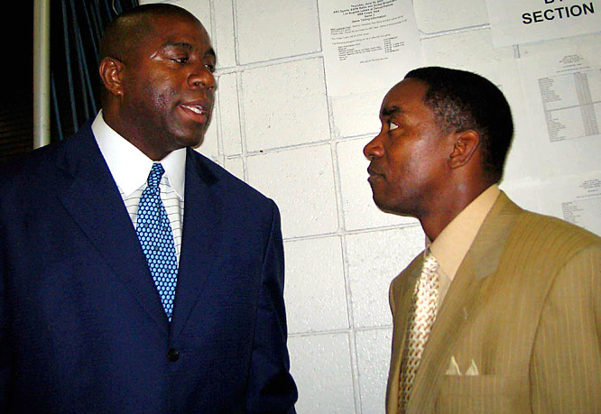 In his new book, When the Game Was Ours, Magic Johnson accuses former pal Isiah Thomas of betraying their friendship, declaring that Thomas threw him under the bus when he questioned Johnson's sexuality after he was diagnosed with HIV.  What was Thomas' response?  He denied the claim, noting that his brother's death from AIDS made him hypersensitive to the issue.  ''I wish he would have had the courage to say this stuff to me face to face,'' Thomas told SI.com. ''OK, I understand you've got to sell a book. But if this is how you sell it, then who's kicking who in the stomach?''  Who would you add to the list? Send suggestions to siwriters@simail.com.