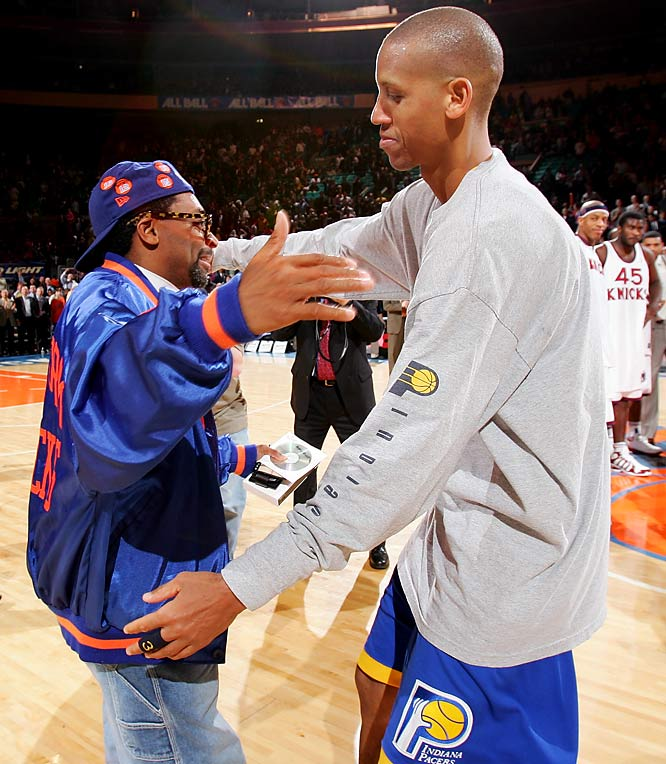 This feud pitted the No. 1 Knicks nemesis against the team's No. 1 fan. From his 25-point fourth quarter in 1994, to his eight point eruption, which erased a six-point Knicks lead in 8.9 seconds, Miller frequently tormented the Knicks and Lee. The director very publicly and visibly taunted and trash-talked Miller for years, but always respected his play.