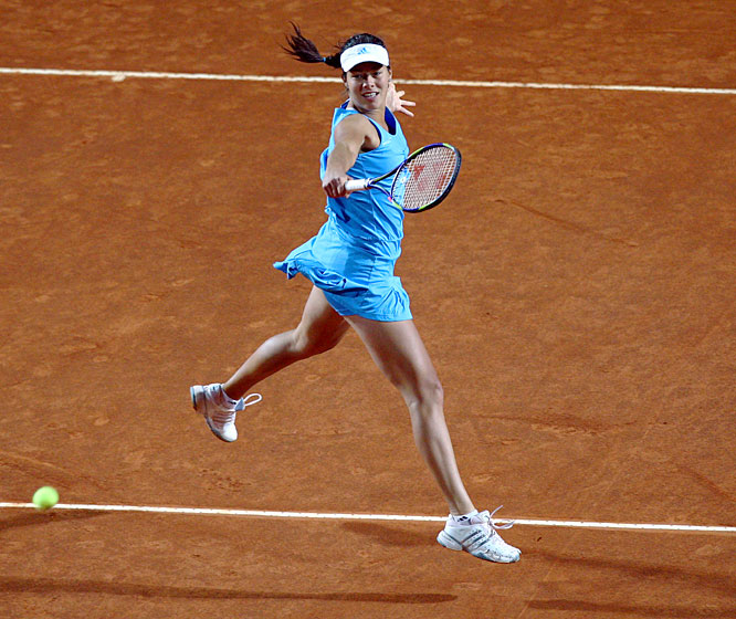 The 21-year-old Serb reached the top of the WTA rankings after winning last year's French Open. But it's been a struggle since, with a thumb injury, early Grand Slam exits and a series of puzzling losses hastening her decline to No. 8. The latest complication is a knee injury suffered in April during her country's Fed Cup win over Spain -- but she insists she's fit to defend her crown.