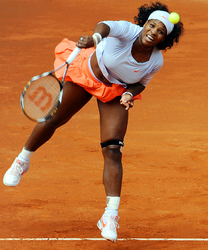 "The second-ranked Williams has dropped four straight matches for the first time in her career, retiring this week from a first-round match against Francesca Schiavone with a nagging knee injury. The unprecedented skid comes two weeks after her swipe at top-ranked Dinara Safina on the eve of the Italian Open. ""We all know who the real No. 1 is,"" Williams said. ""Quite frankly, I'm the best in the world."""