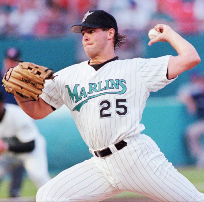 Al Leiter pitches the first no-hitter in Marlins history, beating the Rockies, 11-0.