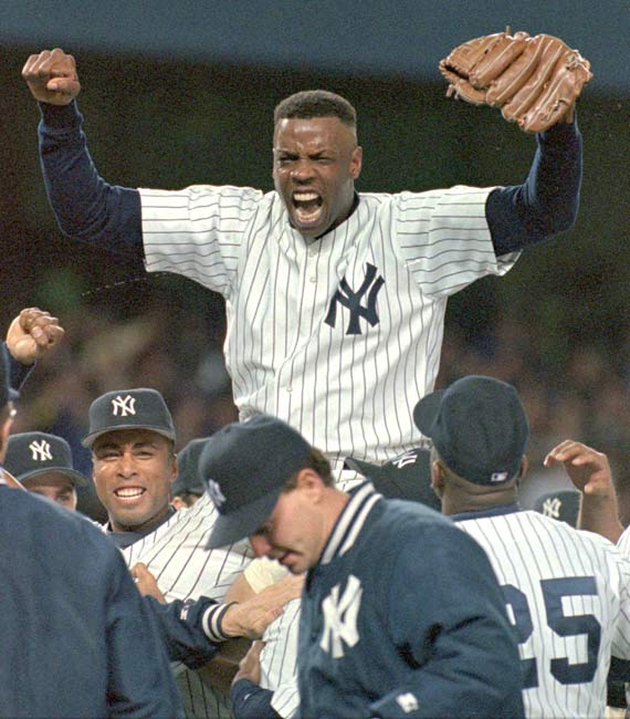 Dwight Gooden becomes the eighth Yankee to throw a no-hitter. Doc's gem is a 2-0 victory over the Mariners at Yankee Stadium.