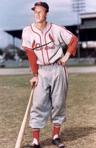In an 8-1 victory over the Dodgers, pinch hitter Stan Musial singles for his 3,516th career hit. The base hit moves him into second place on the all-time list behind Ty Cobb.