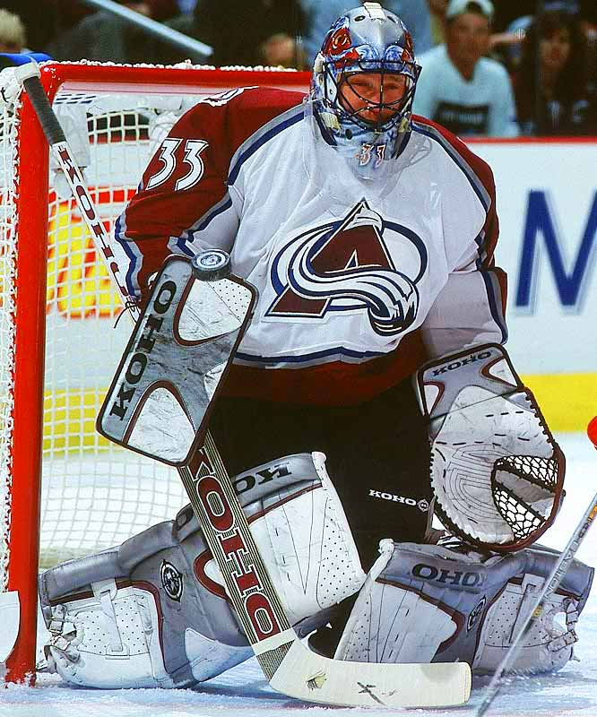 Colorado's Patrick Roy announces his retirement from the NHL. He retires as the NHL leader in victories (551) and games played (1,029).